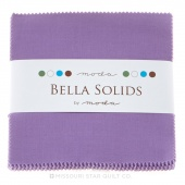 Bella Solids Hyacinth Charm Pack by Moda