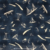 More Hearty Good Wishes - The Sea Dark Ocean Yardage