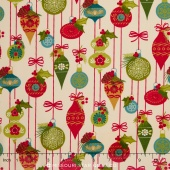 Tole Christmas - Ornaments Parchment Yardage