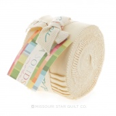 Bella Solids Fig Tree Cream Junior Jelly Roll by Moda