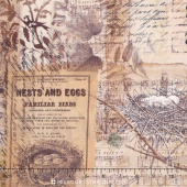 Eclectic Elements - Wallflower Eggs & Nest Multi Yardage