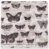Eclectic Elements - Butterflight Taupe Yardage