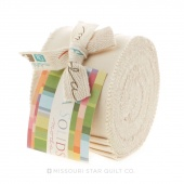 Bella Solids Natural Junior Jelly Roll