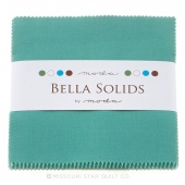 Bella Solids Betty's Teal  Charm Pack by Moda