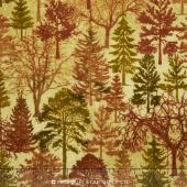 Stonehenge - Multi Colored Trees Wilderness Flannel Yardage