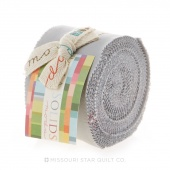Bella Solids  Silver Junior Jelly Roll by Moda