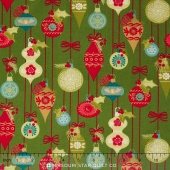 Tole Christmas - Ornaments Light Green Yardage