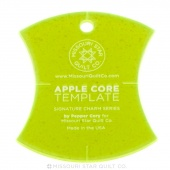 "Small Apple Core (4 1/2"") Template for 5"" Charm Packs"