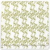 Concerto - G-Clef Cream/Gold Metallic Yardage