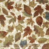 Stonehenge Hidden Valley Flannel - Moss Leaves Yardage