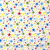 Monsters - Stars Primary White Yardage