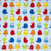 Monsters - Monsters Primary Blue Yardage
