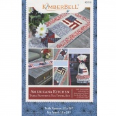 American Kitchen Table Runner & Tea Towel Set Pattern