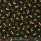 Moose on the Loose - Parchment Pine Cones Green Yardage