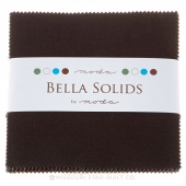 Bella Solids Charcoal Charm Pack by Moda