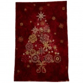 Stonehenge Red Tree Starry Night Wall Hanging Kit with Lights