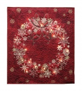 Stonehenge Red Wreath Starry Night 2 Wall Hanging Kit with Lights