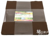 Bella Solids Brown Layer Cake for Moda Fabrics SKU# 9900LC 71