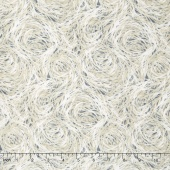 Flutter - Feathers Grey Yardage