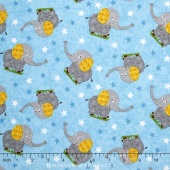 Safari Expedition - Elephants Light Blue Yardage