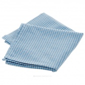 Tea Towel - Mini Check Light Blue on White