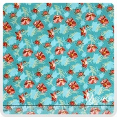 Grace - Small Daisy Blue Yardage