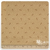 Butter Pecan - Small Flowers Mocha Yardage