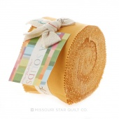 Bella Solids Golden Wheat Junior Jelly Roll by Moda