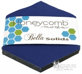 Bella Solids Blue Honey Comb