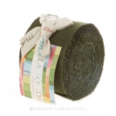 Bella Solids Pine Junior Jelly Roll by Moda