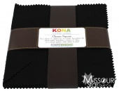Kona Solids - Black Turnover