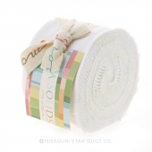 Bella Solids Bleached White Junior Jelly Roll by