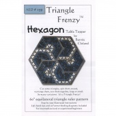 Triangle Frenzy Hexagon Table Topper Pattern