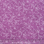 Fresh Lilacs - Purple Tonal Scroll Yardage