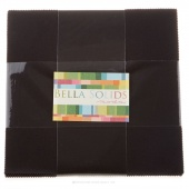 Bella Solids Charcoal Junior Layer Cake by Moda