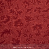 "Midnight Clear - 108"" Jacobean Damask Crimson Glow Wide Backing"