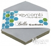 Bella Solids Silver Honey Comb