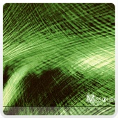 Electric Feather - Green Yardage
