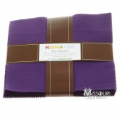 Kona Cotton - Purple Ten Squares