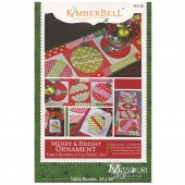 Merry & Bright Ornament Table Runner & Tea Towel Set Pattern