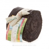 Bella Solids Charcoal Junior Jelly Roll by Moda