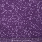 Fresh Lilacs - Violet Tonal Scroll Yardage