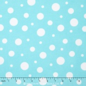 Cozy Cotton Flannels - Aqua Dots Yardage