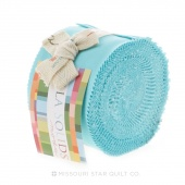 Bella Solids Robin's Egg Blue Junior Jelly Roll by Moda