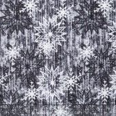 The Forever Collection - Snowflake Barn Smoke Yardage