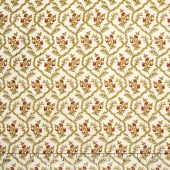 Rosewater c.1880 - Flower Grid Cream Yardage