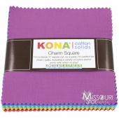 Kona Solids - New Bright Palette Charm Pack