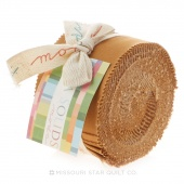Bella Solids Hay Junior Jelly Roll by Moda