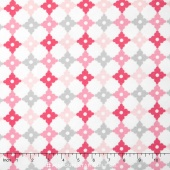 Cozy Cotton Flannels - Tiles Pink Yardage