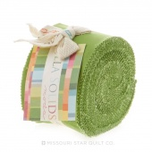 Bella Solids  Fresh Grass  Junior Jelly Roll by Moda
